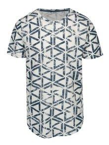 Modré vzorované tričko ONLY & SONS Benn