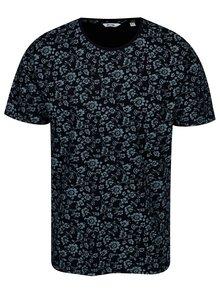 Tmavomodré kvetované tričko ONLY & SONS Milo