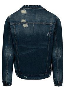 Modrá rifľová bunda s potrhaným efektom ONLY & SONS Denim