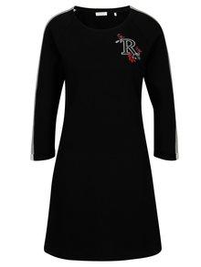 Černé mikinové šaty Rich & Royal