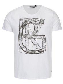 Tricou alb cu print pentru barbati Broadway Bennie