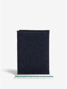 Portofel bleumarin din denim pentru pasaport - Sass & Belle