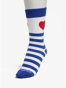 Modro-bílé pruhované unisex ponožky Fusakle Zamilovaný námorník
