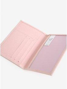 Světle růžové pouzdro na doklady Sass & Belle