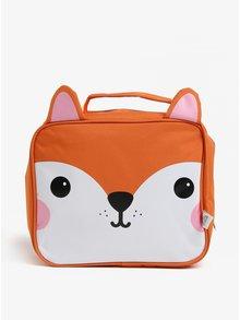 Oranžová taška na jedlo v tvare líšky Sass & Belle