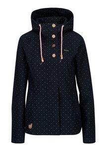 Tmavomodrá dámska bodkovaná bunda Ragwear Lynx Dots