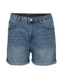 Modré džínové kraťasy s vysokým pasem Noisy May Be Liv