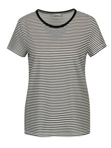 Bielo-čierne pruhované tričko Noisy May Shelly