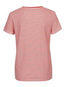 Tricou alb & rosu cu print in dungi - Noisy May Shelly