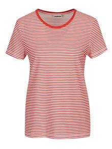 Bielo-červené pruhované tričko Noisy May Shelly