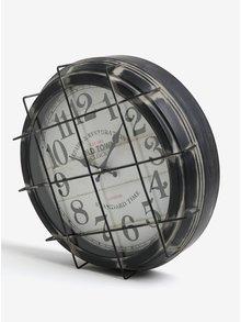Ceas gri inchis din metal cu aspect retro - Kaemingk