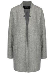 Svetlosivý melírovaný tenký kabát VERO MODA Dafny