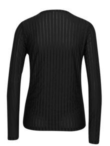 Bluza neagra cu dungi si insertii transparente - VERO MODA Ann