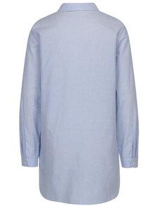 Bielo-modrá dlhá pruhovaná košeľa VERO MODA Multi Rosa
