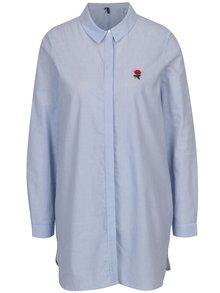 Bílo-modrá dlouhá pruhovaná košile VERO MODA Multi Rosa