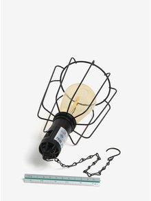 Čierne hranaté LED solárne svetlo pre exteriéry Kaemingk