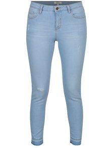 Světle modré zkrácené skinny džíny Dorothy Perkins Darcy
