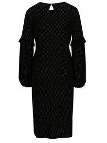 Čierne bodkované tehotenské šaty s potlačou Dorothy Perkins Maternity