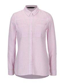 Bielo-ružová pruhovaná košeľa s vreckami Dorothy Perkins