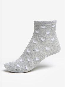 Súprava troch párov dievčenských pruhovaných ponožiek v ružovo-sivej farbe 5.10.15.