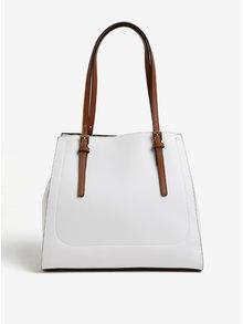 Hnedo-biela koženková kabelka Gionni Alma