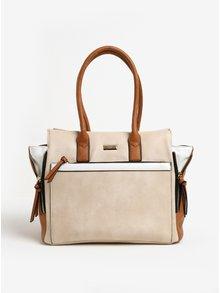 Hnědo-béžová kabelka Gionni Jeane