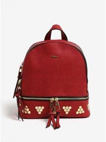 Červený batoh s detailmi v zlatej farbe Gionni Maya