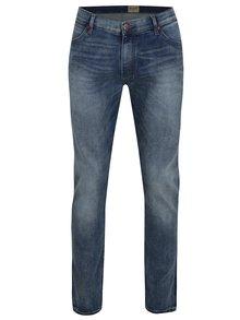 Modré pánské slim džíny s vyšisovaným efektem Wrangler Larston