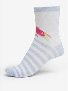 Súprava troch párov dievčenských vzorovaných ponožiek v ružovej a bielej farbe 5.10.15.