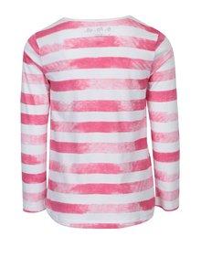 Ružovo-biele dievčenské pruhované tričko s dlhým rukávom 5.10.15.