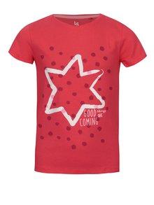 Ružové dievčenské tričko s potlačou 5.10.15.