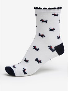 Súprava troch párov dievčenských ponožiek v bielej a sivej farbe 5.10.15.