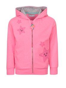 Růžová holčičí mikina s nášivkou hvězd 5.10.15.