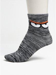 Súprava troch párov chlapčenských melírovaných ponožiek v sivej a modrej farbe 5.10.15.