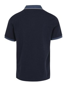 Tricou polo bleumarin - Hackett London Seersucker