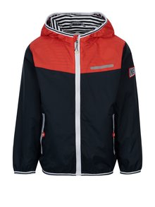 Modro-červená chlapčenská bunda s vreckami a kapucňou 5.10.15.