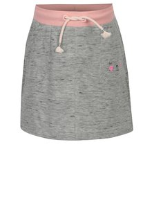 Šedá žíhaná tepláková sukně s kapsami 5.10.15.