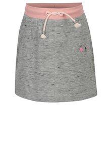 Sivá melírovaná tepláková sukňa s vreckami 5.10.15.