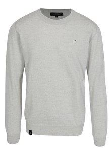 Svetlosivý pánsky tenký sveter z merino vlny Makia Merino