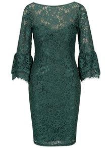 Zelené čipkované šaty s dlhým rukávom Paper Dolls