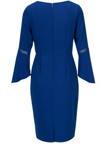 Modré puzdrové šaty so zvonovými rukávmi Paper Dolls