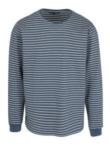 Bluza albastra cu dungi albe din bumbac - Makia Yacht