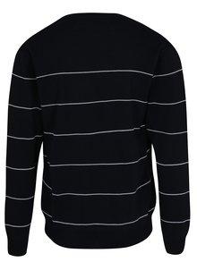 Cardigan bleumarin cu dungi din lana merino - Makia Daymark