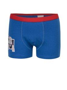 Sada tří klučičích vzorovaných boxerek modré, červené a šedé barvě 5.10.15.
