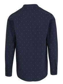 Tmavě modrá pánská vzorovaná regular fit košile Makia Anchors