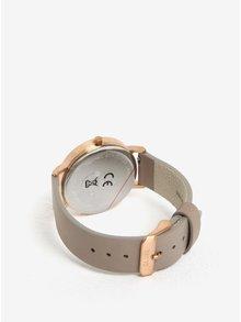 Dámské hodinky v růžovozlaté barvě s koženým páskem CLUSE