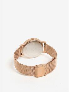 Ceas roz auriu cu bratara metalica pentru femei - CLUSE