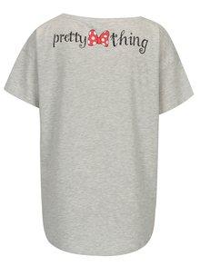 Sivé melírované tričko s potlačou Haily´s Minnie