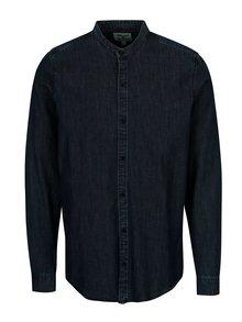 Tmavomodrá pánska rifľová košeľa Garcia Jeans