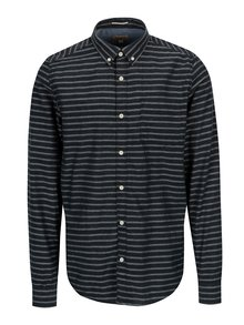Tmavomodrá pánska pruhovaná košeľa Garcia Jeans